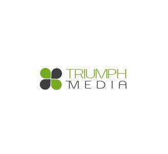 Разработка логотипа  TRIUMPH MEDIA с изображением клевера фото f_506efbab59831.jpg