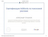 Сертификат Google Ads 1
