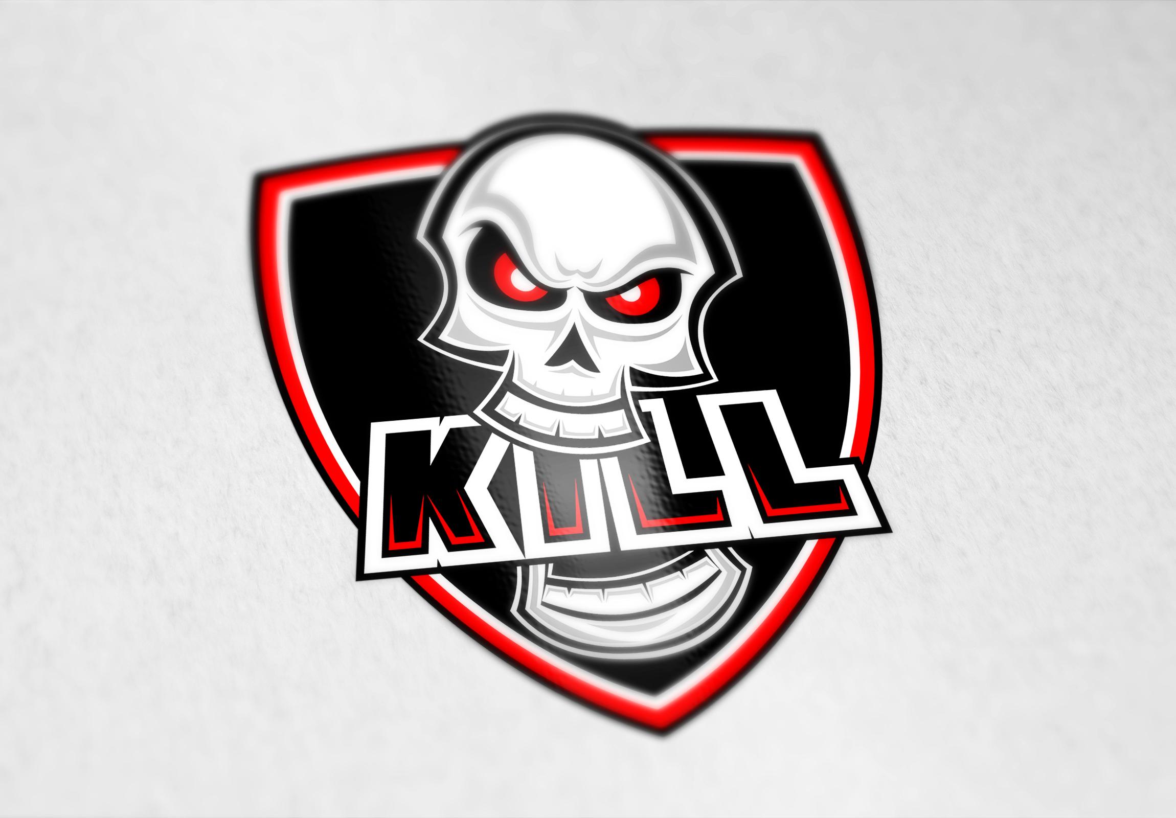 KILL. Логотип для кибер-спортивной команды.