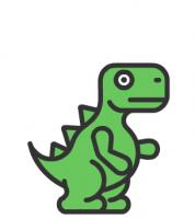ПРОМОЗАВР анимация персонажа логотипа
