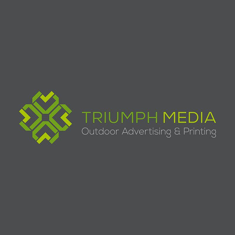 Разработка логотипа  TRIUMPH MEDIA с изображением клевера фото f_507011d2c59df.jpg
