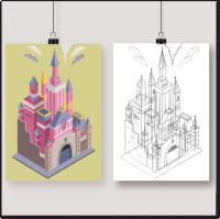 Изометрический замок Disney