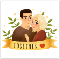 Стилистическая иллюстрация пары