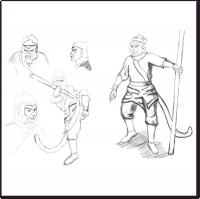 Концепт арт Король обезьян