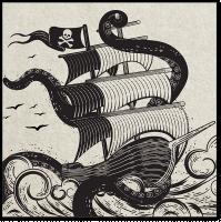 Иллюстрация для этикетки рома