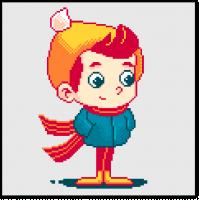 Пиксель арт персонаж