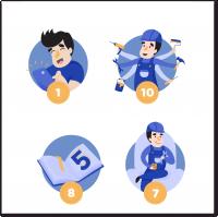 Иконки-иллюстрации для приложения