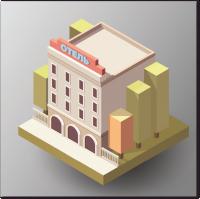 Изометрический отель