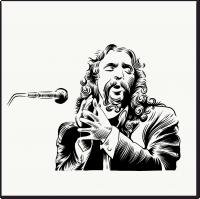 Контурная иллюстрация для музыкально сайта