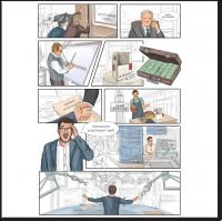 Комикс для книги в стиле скетч