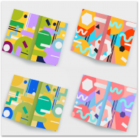 Геометрический дизайн для обложки серии ежедневников