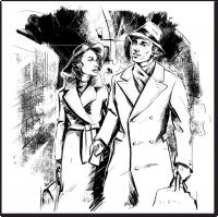 Черно белая иллюстрация для книги