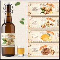 Дизайн серии иллюстративных этикеток на напиток