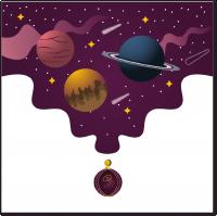 Космическая иллюстрация для коллекции духов