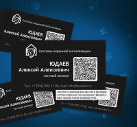 Логотип и визитка для частного эксперта систем охранной сигнализации
