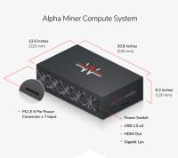 Сайт-лендинг Alpha miner. Новый продукт Giga Watt.