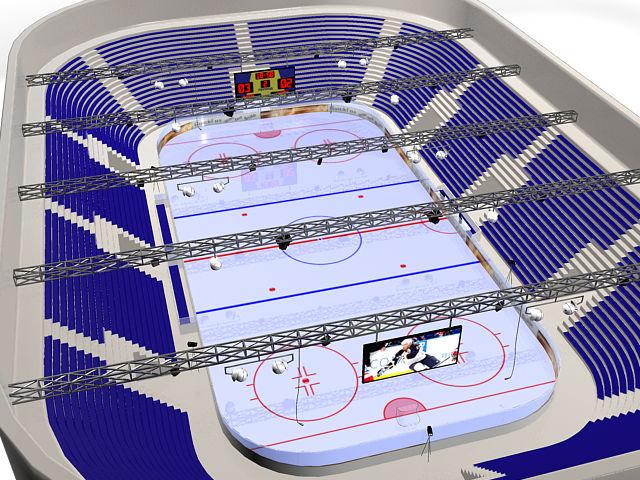 Модель хоккейного стадиона