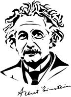 Векторный портрет Эйнштейна.
