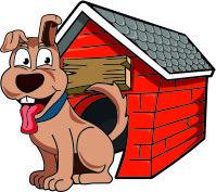 Веселая собачка в будке