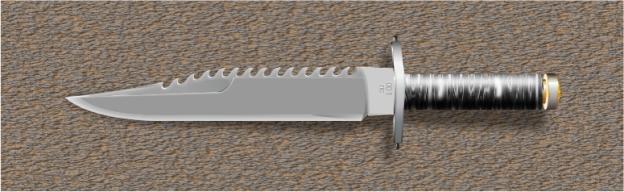отрисовка ножа