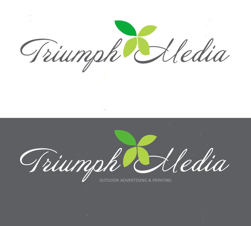 Разработка логотипа  TRIUMPH MEDIA с изображением клевера фото f_507554d9b2507.jpg