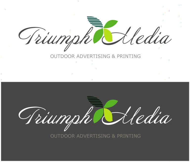 Разработка логотипа  TRIUMPH MEDIA с изображением клевера фото f_5075d68c0a8be.jpg