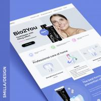 Лендинг реклама зубной пасты первый вариант
