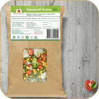 Наклейка на пакет с мороженными овощами