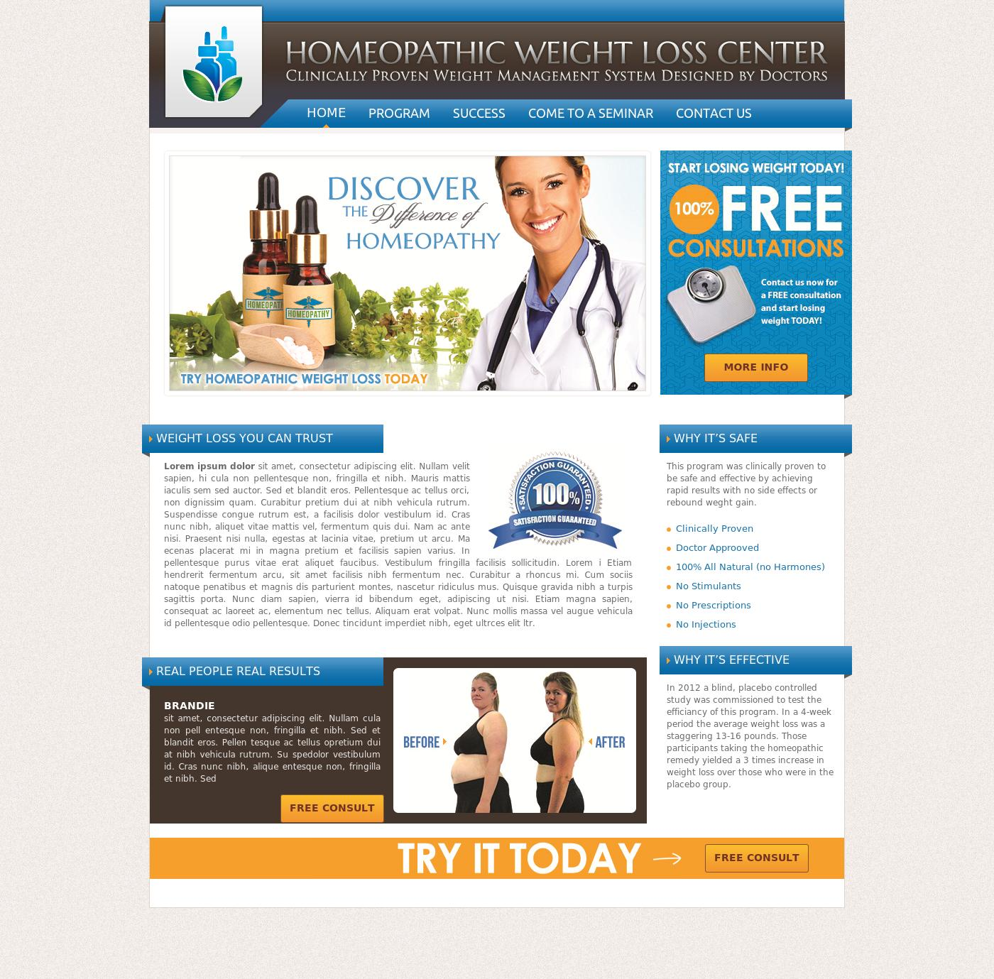 Homeopathic Weight Loss Center