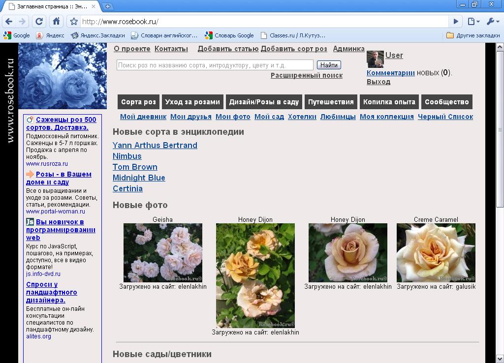 Тематический портал www.rosebook.ru