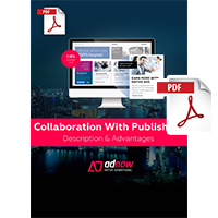 PDF Презентация - ADNow - Collaboration With Publishers