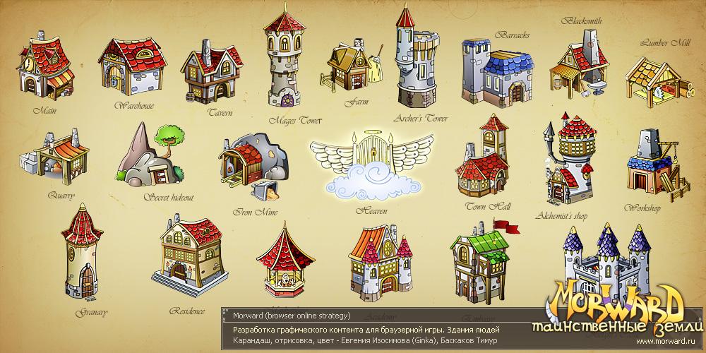 Деревня людей(отрисовка). для morward.ru