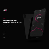 Design concept landing page for app | 3GO