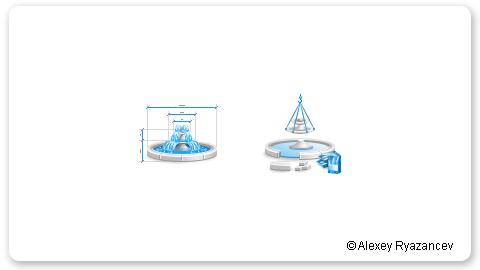 Иконки производство фонтанов