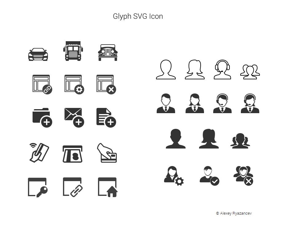 Плоские иконки для Iconfinder.com
