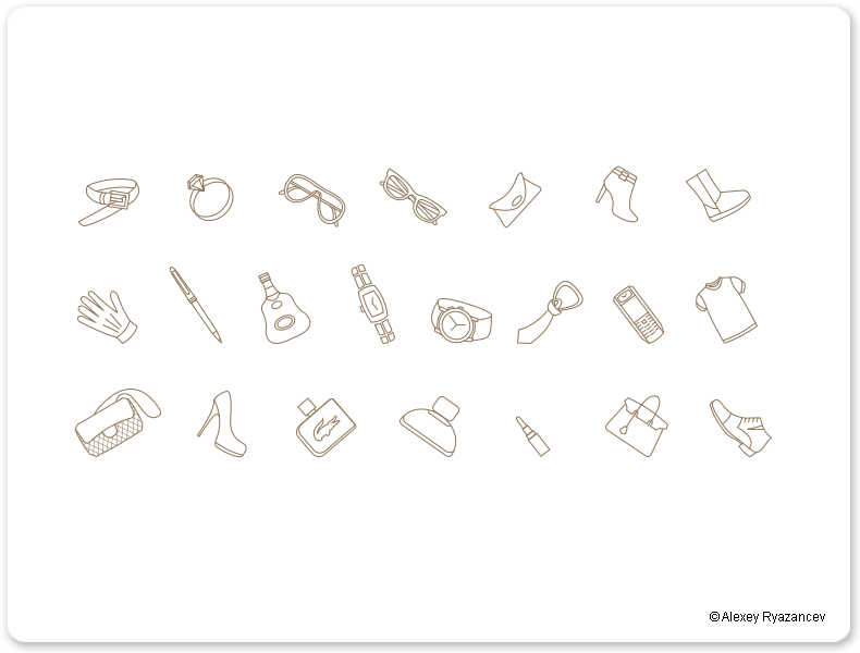 Иконки контуры для Brendex