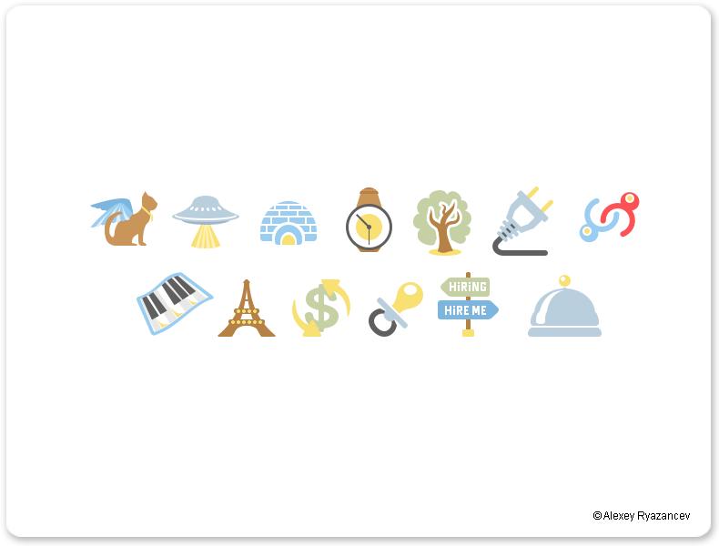 Цветные flat иконки для koogis