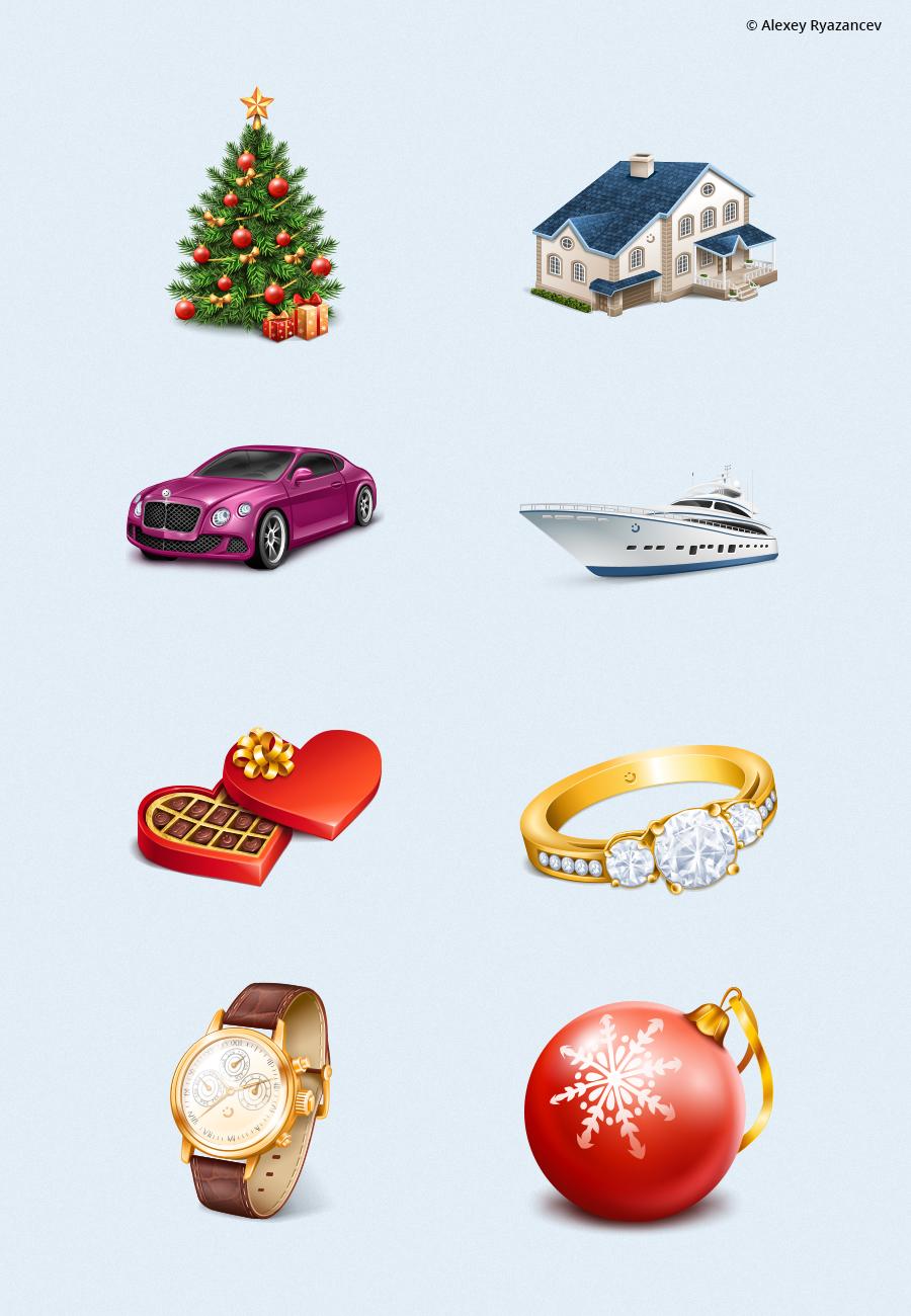 Иконки подарки для topface.com