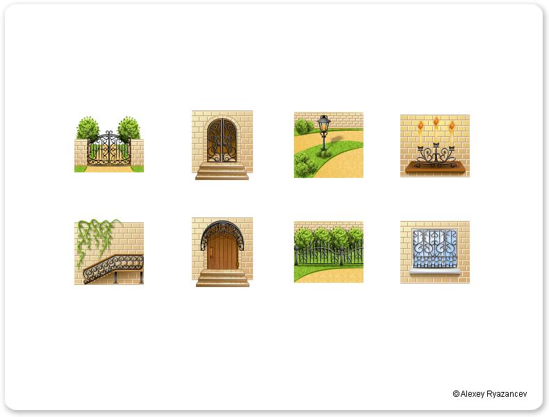 Иконки для сайта кованных изделий