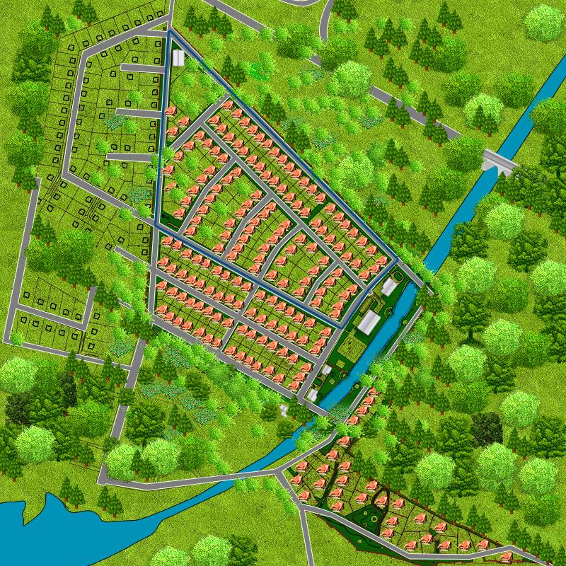 Карта поселка «Радуга»