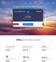Landing page - Сервис подбора авиабилетов