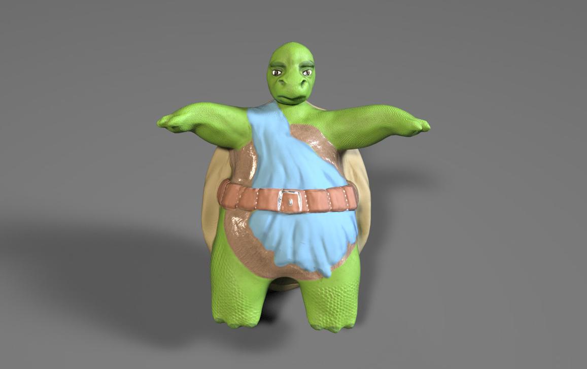 3D low poly модель для игры