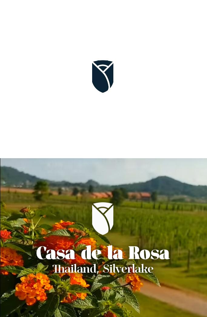 Логотип + Фирменный знак для элитного поселка Casa De La Rosa фото f_1635cd4452ea00e4.jpg