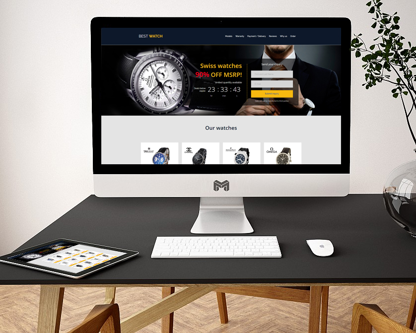 Разработка Landing page - Часы