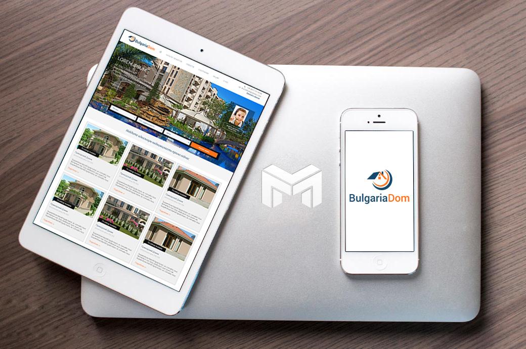 Разработка сайта по недвижимости в Болгарии