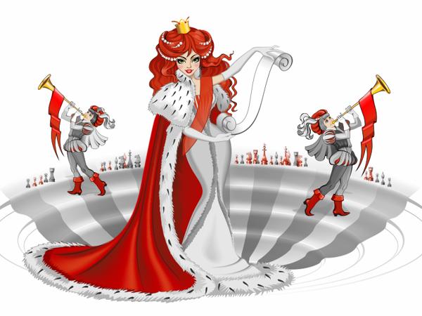 """Иллюстрации в шапку сайта рекламного агентства """"Queen Design"""""""