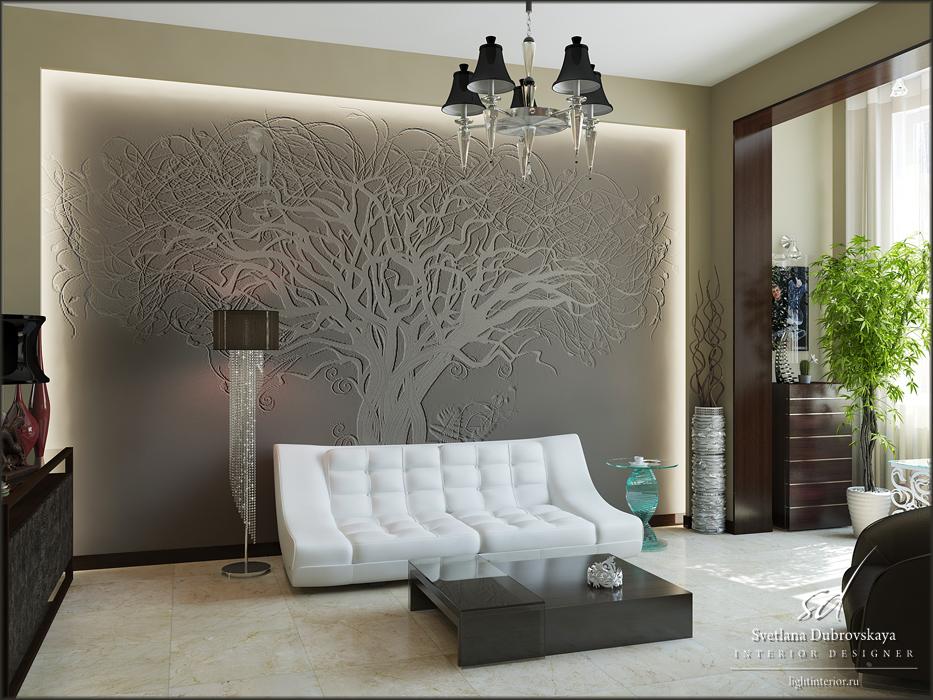 """Интерьерная векторная графика: """"Дерево и птица"""", ..."""
