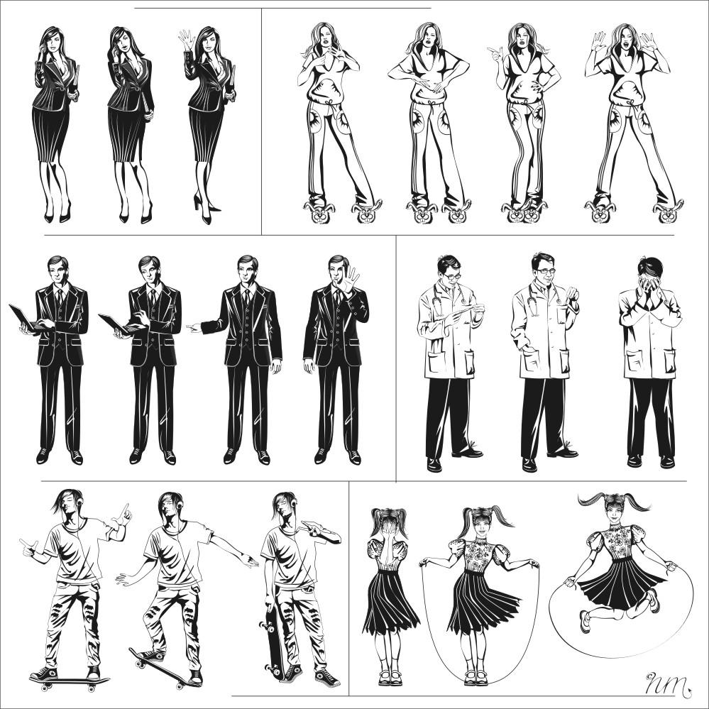 сторибоард: персонажи для игры