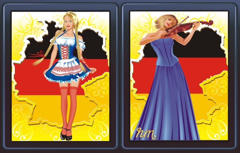 левый экран выбора немецкого языка