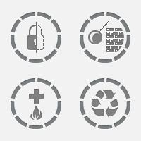 Иконки для сайта по утилизации материалов